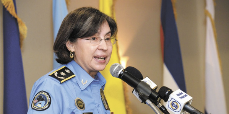 Jefa de la Policía Nacional de Nicaragua. Captura de pantalla hoy.com.ni