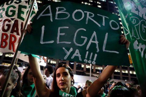 Manifestación a favor del aborto en Argentina. Foto: EFE-Archivo