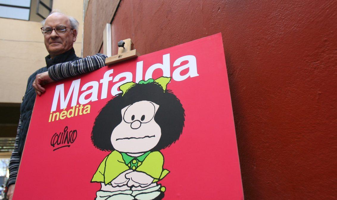 """CIUDAD DE MÉXICO, 30SEPTIEMBRE2020.- El dibujante argentino, Joaquín Salvador Levado Tajón, mejor conocido como Quino, creador de la tira cómica """"Mafalda"""", murió el día de hoy a los 88 años. FOTO: ARCHIVO / CUARTOSCURO.COM"""