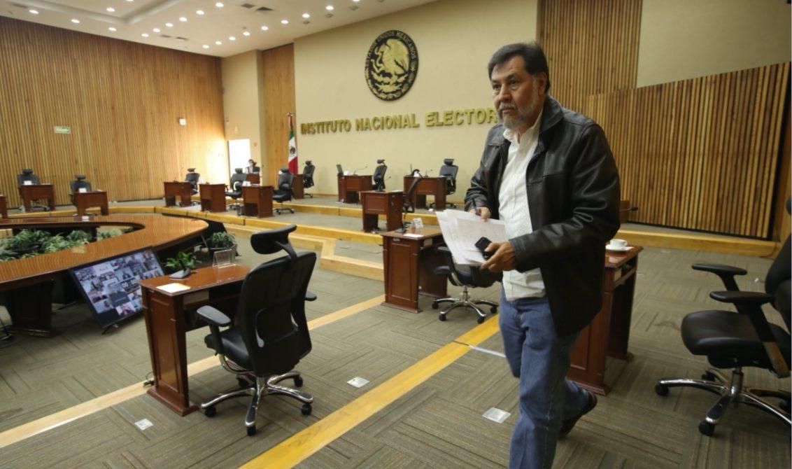 CIUDAD DE MÉXICO, 26NOVIEMBRE2020.- Se realizó la sesión ordinaria en el INE, la cual fue encabezada por Lorenzo Córdova Vianello, en la cual tomaron protesta Silvano Garay Ulloa, como representante del PT, y Gerardo Fernández Noroña, como consejero suplente del poder legislativo del PT. FOTO: INE/CUARTOSCURO.COM