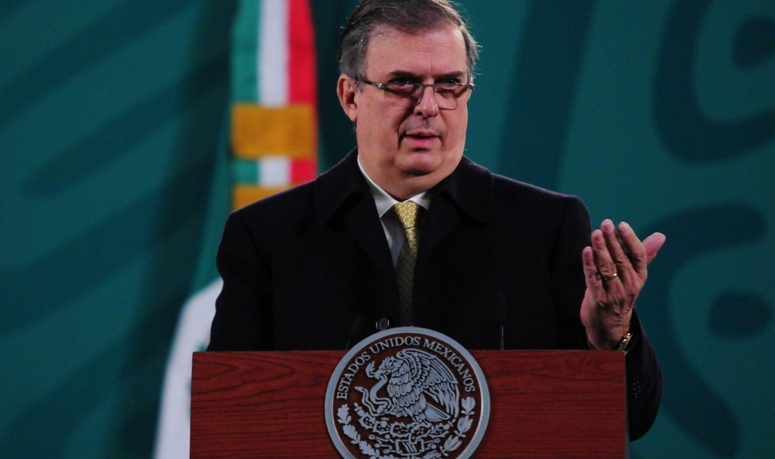 El canciller Marcelo Ebrard habló sobre el caso Cienfuegos en la conferencia matutina. Foto: Presidencia