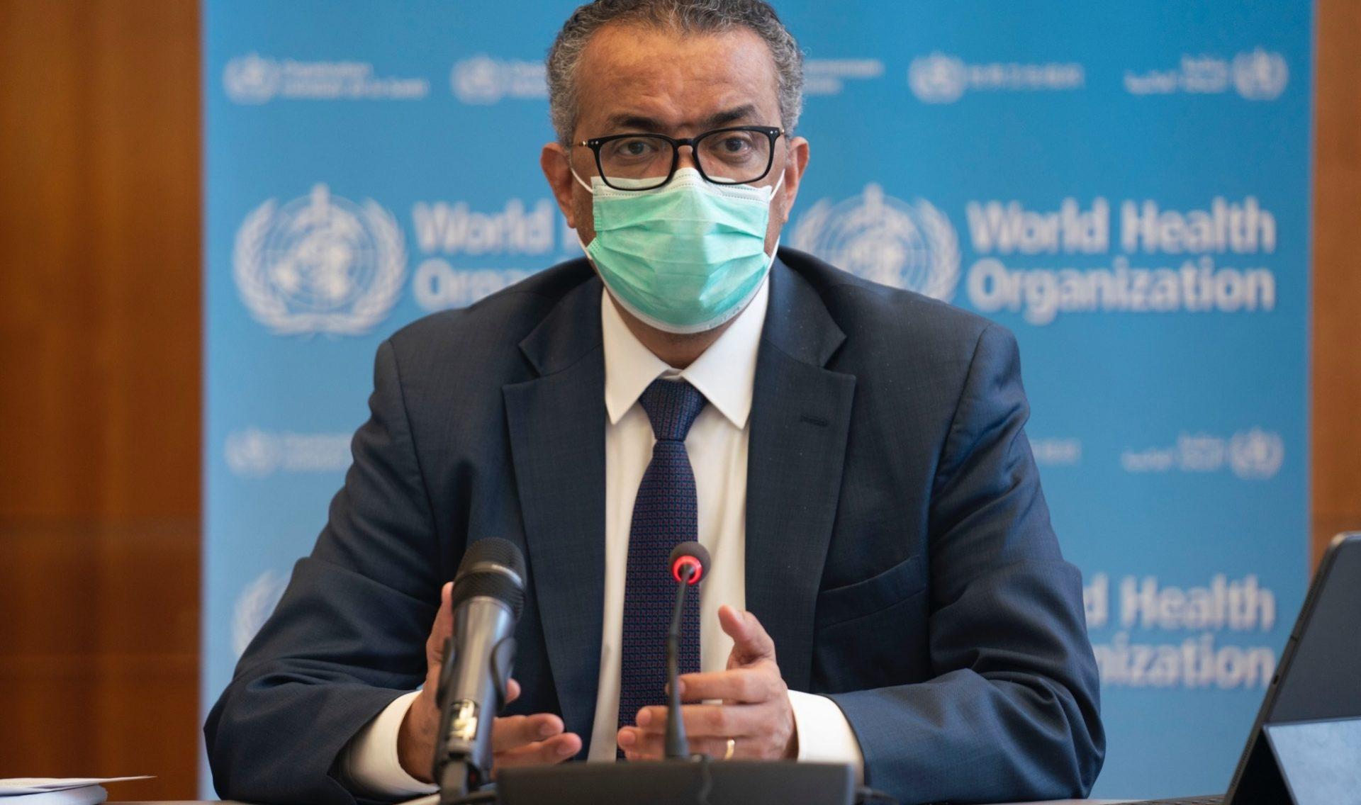 El director general de la Organización Mundial de la Salud (OMS), Tedros Adhanom Ghebreyesus, durante la reunión del Comité de Emergencias de la OMS