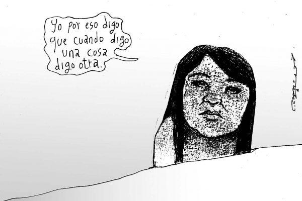 Nestora hablando / Méndez