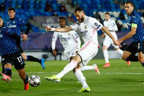 Los goles del triunfo del Real Madrid sobre el Atalanta fueron anotados por Karim Benzemá, Marco Asensio y Sergio Ramos (de penalti), ayer en la cancha del estadio Alfredo di Stéfano. Foto: Tomada de Internet